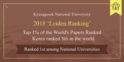 Kyungpook National University 2018 'Leiden Ranking' Top 1% of the World